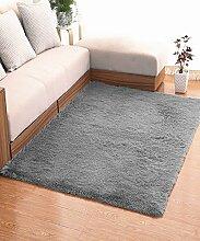 ZHANWEI Bereich Teppiche Einfache feste Farbe Teppich Wasserabsorption rutschfeste Rechteck Sofa Couchtisch Teppich Hall Wohnzimmer Schlafzimmer Teppich ( Farbe : D , größe : 120*200CM )