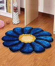 ZHANWEI Bereich Teppiche Einfache Idee Runde Teppich Sofa Couchtisch Teppich Rutschfeste Türmatten Wohnzimmer Hall Schlafzimmer Teppich ( Farbe : I , größe : 90*90cm )