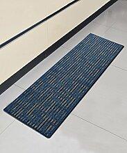 ZHANWEI Bereich Teppiche Einfache moderne Streifen Bedside-Teppich Wasserabsorption rutschfeste Türmatten Wohnzimmer Hall Sofa Schlafzimmer Teppich ( Farbe : A , größe : 50*80CM )
