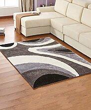 ZHANWEI Bereich Teppiche Einfacher Dicker Teppich Moderner Sofa Couchtisch Teppich Kreativ Rutschfeste Türmatten Wohnzimmer Hall Schlafzimmer Teppich ( Farbe : C , größe : 140*200CM )