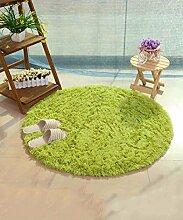 ZHANWEI Bereich Teppiche Einfacher Farben-Teppich Wasser-Absorption rutschfeste runde Badezimmer-Wohnzimmer-Sofa-Teppich-Hall-Schlafzimmer-Teppich ( Farbe : A , größe : 140*140CM )