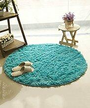 ZHANWEI Bereich Teppiche Einfacher Farben-Teppich Wasser-Absorption rutschfeste runde Badezimmer-Wohnzimmer-Sofa-Teppich-Hall-Schlafzimmer-Teppich ( Farbe : E , größe : 120*120CM )