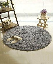 ZHANWEI Bereich Teppiche Einfacher Farben-Teppich Wasser-Absorption rutschfeste runde Badezimmer-Wohnzimmer-Sofa-Teppich-Hall-Schlafzimmer-Teppich ( Farbe : C , größe : 80*80cm )