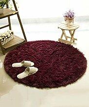 ZHANWEI Bereich Teppiche Einfacher Farben-Teppich Wasser-Absorption rutschfeste runde Badezimmer-Wohnzimmer-Sofa-Teppich-Hall-Schlafzimmer-Teppich ( Farbe : C , größe : 100*100CM )