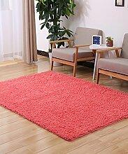 ZHANWEI Bereich Teppiche Einfarbig Einfache dicke Bedside Carpet Kreative Wasserabsorption Rutschfeste Türmatten Wohnzimmer Hall Sofa Schlafzimmer Teppich ( Farbe : C , größe : 100*160CM )