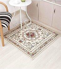 ZHANWEI Bereich Teppiche European Blended Teppich Verschleißfeste Matte Anti-Rutsch-Absorbent Teppich Home Badezimmer Teppich ( Farbe : A , größe : 120*120cm )