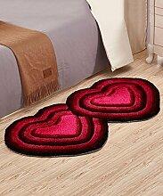 ZHANWEI Bereich Teppiche European Style Heart-shaped Thicker Teppich Einfache Sofa Couchtisch Teppich Kreative Anti-Rutsch Türmatten Wohnzimmer Hall Schlafzimmer Teppich ( Farbe : F , größe : 70*140CM )