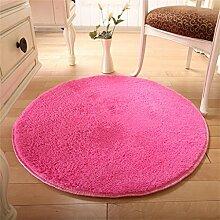 ZHANWEI Bereich Teppiche Haushalt runde Matte Anti-Rutsch Verschleißfeste Teppich Wohnzimmer Schlafzimmer Tür Absorbent Fuß Teppich ( Farbe : D , größe : 1.4M )