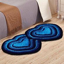 ZHANWEI Bereich Teppiche Kontinental Herz Mats Salon Schlafzimmer Bettseite Kind Matte Ehe Zimmer Teppich 70 × 140 Cm ( Farbe : G )