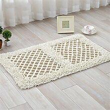ZHANWEI Bereich Teppiche Kontinental Mats Pastoral Blumen Fußmatte Küche Salon Badezimmer Badteppiche Wasser Kufe Teppich ( Farbe : B , größe : 45cm×70cm )