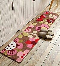 ZHANWEI Bereich Teppiche Küche Boden Matte Anti-Rutsch Anti-Öl lange Fuß Teppich Wasser saugfähige Tür Matte ( Farbe : H , größe : 40*60cm )