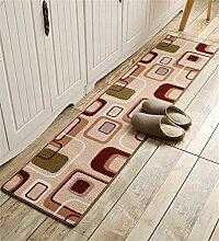 ZHANWEI Bereich Teppiche Küche Boden Matte Anti-Rutsch Anti-Öl lange Fuß Teppich Wasser saugfähige Tür Matte ( Farbe : E , größe : 50*120CM )