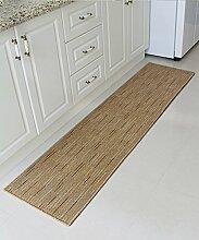 ZHANWEI Bereich Teppiche Modern Simplicity Stripe Bedside Teppich Wasserabsorption Rutschfeste Türmatten Wohnzimmer Sofa Schlafzimmer Teppich ( Farbe : A , größe : 45*75CM )
