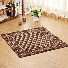 ZHANWEI Bereich Teppiche Moderne Türmatte Anti-Rutsch-Wasser Absorbierende Fußmatten Computer Stuhl Teppich ( Farbe : E , größe : 80*80cm )