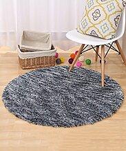 ZHANWEI Bereich Teppiche Moderner Normallack-runder Teppich Einfacher kreativer Teppich-Sofa-Kaffeetisch-Teppich-rutschfeste Tür-Matten-Wohnzimmer-Hall-Schlafzimmer-Teppich ( Farbe : A , größe : 120*120CM )
