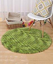 ZHANWEI Bereich Teppiche Moderner Normallack-runder Teppich Einfacher kreativer Teppich-Sofa-Kaffeetisch-Teppich-rutschfeste Tür-Matten-Wohnzimmer-Hall-Schlafzimmer-Teppich ( Farbe : C , größe : 100*100CM )