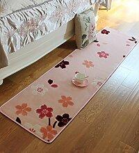 ZHANWEI Bereich Teppiche Nachttisch Teppich Küche Lange Wasserdichte Fußteppich Schlafzimmer Wohnzimmer Nicht rutschmatte Matte ( Farbe : C , größe : 0.5*2M )