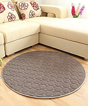 ZHANWEI Bereich Teppiche Solid Color Round Teppich Einfache kreative Teppich Sofa Couchtisch Teppich rutschfeste Türmatten Wohnzimmer Hall Schlafzimmer Teppich ( Farbe : E , größe : 110*110CM )