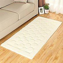 ZHANWEI Bereich Teppiche Thicker Full Floor Türmatten Schlafzimmer Nachttisch Teppich Long Bay Fenstermatten ( Farbe : B , größe : 70*140CM )