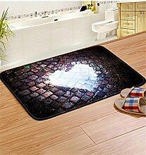 ZHANWEI Bereich Teppiche Türmatte Baumwolle Anti-Rutsch-Verdickung Fuß Teppich Badezimmer Balkon Wasserdichte Fußmatte ( Farbe : C , größe : 50*80CM )