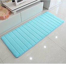 ZHANWEI Bereich Teppiche Wasser-Absorption rutschfester einfacher Normallack-Teppich-Vierecks-Badezimmer-Wohnzimmer-Sofa-Teppich-Hall-Schlafzimmer-Teppich ( Farbe : C , größe : 50*160CM )