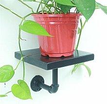 ZHANWEI Blumenständer Amerikanisches Retro Eisen-Wasser-Rohr-Wand-Regal-Regal-Regal / Bücherregal / Regal-kreativer Blumen-Zahnstange Blumenregal ( Farbe : A , größe : 20cm )