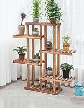 ZHANWEI Blumenständer Balkon Holz Blumentopf Rahmen Multi - Etagen Wohnzimmer Wooden Topfpflanze Blumen Regal Blumenregal