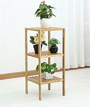 ZHANWEI Blumenständer Bambus Blumentopf Regal