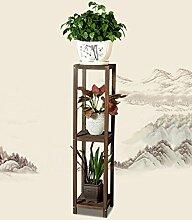 ZHANWEI Blumenständer Einfache Blumentopf Rack Wohnzimmer Balkon Massivholz Blume Regal Hanging Blue Regal Blumenregal ( größe : 35*120cm )