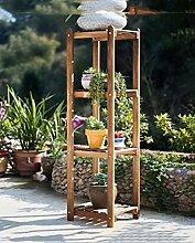 ZHANWEI Blumenständer Einfache Kombination Blumentopf Rahmen Massivholz Boden Blumentopf Rahmen Multi - Layer Holz Balkon Blumen Regal Blumenregal ( größe : 33*28*55cm )