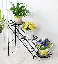 ZHANWEI Blumenständer Eisen-Blumen-Racks Wohnzimmer mit Indoor-und Outdoor-Boden-Leiter Multilayer Iron Flower Regal / Plant Shelf / Bonsai Rack Blumenregal ( Farbe : A )