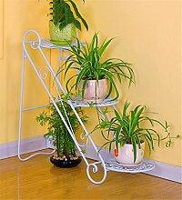 ZHANWEI Blumenständer Eisen-Blumen-Racks Wohnzimmer mit Indoor-und Outdoor-Boden-Leiter Multilayer Iron Flower Regal / Plant Shelf / Bonsai Rack Blumenregal ( Farbe : C )