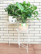 ZHANWEI Blumenständer Eisen Blumentopf Rahmen Kreativ Drei - Geschichte Blume Rack Wohnzimmer Interieur Balkon Modern Einfache Blumen Regal Blumenregal ( Farbe : B , größe : 60*66cm )