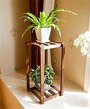 ZHANWEI Blumenständer Europäische Massivholz Blumenregal Hölzerne Balkon Boden Blumentöpfe Regal Wohnzimmer Innen Sukkulenten Pflanze Stand Blumenregal ( größe : 52*28cm )