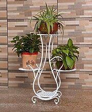 ZHANWEI Blumenständer European Style Flower Pot Rack Indoor Multi - Storey Blume Rack Wohnzimmer Balkon Korb Vier - Etagen Blumen Regal Blumenregal ( Farbe : A , größe : 56*63.5cm )
