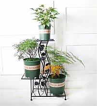 ZHANWEI Blumenständer European Style Garden Mehrstöckige Blumen-Rack-Boden-Leiter-Blumen-Topf-Rack-Balkon-Anlage Regal / Topf-Regal Blumenregal ( Farbe : A )