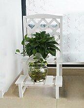 ZHANWEI Blumenständer Grid Flower Pot Rack, Outdoor Balkon Multi - Layer Hanging Orchid Racks Garten Racks Hölzerne Montage Blumen Regal Blumenregal ( Farbe : B , größe : 45*80cm )