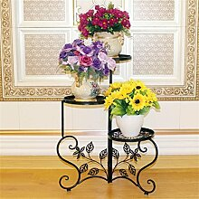 ZHANWEI Blumenständer Indoor Flower Racks Iron Mehrstöckiges Wohnzimmer Outdoor European Flower Pot Rack Balkon Potted Regal Pflanze Flower Stand Blumenregal ( Farbe : B )