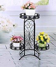 ZHANWEI Blumenständer Iron Fashionable Four - Foot Flower Racks Pastoral Style Pflanzen Regale / Retro Multi - Storey Töpfe Regal Blumenregal ( Farbe : A , größe : 66*26*74cm )