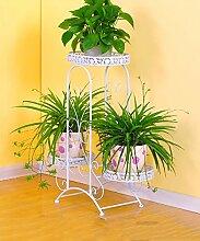 ZHANWEI Blumenständer Iron Fashionable Four - Foot Flower Racks Pastoral Style Pflanzen Regale / Retro Multi - Storey Töpfe Regal Blumenregal ( Farbe : D , größe : 66*26*74cm )