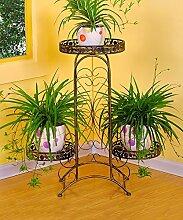 ZHANWEI Blumenständer Iron Fashionable Four - Foot Flower Racks Pastoral Style Pflanzen Regale / Retro Multi - Storey Töpfe Regal Blumenregal ( Farbe : B , größe : 66*26*74cm )