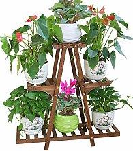 ZHANWEI Blumenständer Massivholz Blumen Racks Boden Blumentöpfe Regal Balkon Wohnzimmer Sukkulenten Pflanze Stand Blumenregal