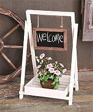 ZHANWEI Blumenständer Massivholz Blumentopf Regal Falten Blume Rack Dekoration Sukkulenten Pflanze Stand Indoor Balkon 34*30*63cm Blumenregal