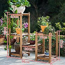 ZHANWEI Blumenständer Massivholzkombination Blumenregal Boden - Stil Mehrgeschoss Töpfe Regal Balkon Wohnzimmer Innenblume Racks Blumenregal ( größe : D )