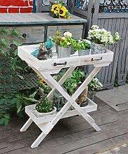 ZHANWEI Blumenständer Retro Blumentopf Racks / Garten Tray Racks Pastorale Pflanzen Blumen Racks Massivholz Regale Blumenregal