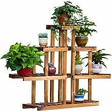 ZHANWEI Blumenständer Wooden Flower Pot Rahmen Creative Floor Multi - Storey Blumen Regal Zimmer Balkon Regal Blumenregal
