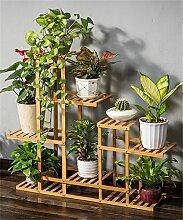 ZHANWEI Boden Bambus Blumentopf Regal Massivholz