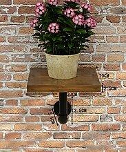 ZHANWEI Pflanzentreppe Blumenständer Kreative Amerikanische Retro Eisen Blumentopf Regal Pflanze Stand Blume Rack Blumenständer ( Farbe : Braun , größe : 20CM )