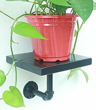 ZHANWEI Pflanzentreppe Blumenständer Kreative Amerikanische Retro Eisen Blumentopf Regal Pflanze Stand Blume Rack Blumenständer ( Farbe : Schwarz , größe : 20CM )