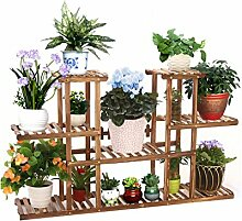 ZHANWEI Pflanzentreppe Blumenständer Multilayer Blumentopf Regal Massivholz Wohnzimmer Balkon Pflanze Stand Interieur Montage Blumen Rack Blumenständer ( größe : A )